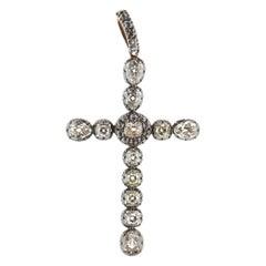 Victorian Diamond Cross Pendant Is Spectacular and Impressive