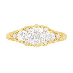 Victorian Cushion Cut Diamond Cluster Ring, circa 1880s
