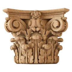 Victorian Custom Made Carved Capital for Walls, Doors, Furniture, Interior