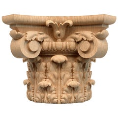 Victorian Custom Millwork Carved Capital for Walls, Doors, Furniture, Interior