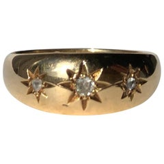 Victorian Diamond and 18 Carat Gold Gypsy Ring