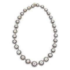 Victorian Diamond and Pearl Necklace