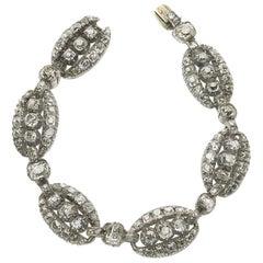 Victorian Diamond Bracelet, 9.00 Carat