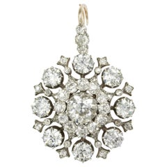 Victorian Diamond Brooch-Pendant