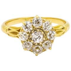 Victorian Diamond Cluster Ring, 1.00 Carat