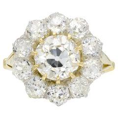 Victorian Diamond Coronet Cluster Ring, circa 1890