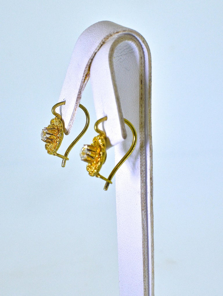 Victorian Diamond Earrings, circa 1895 In Excellent Condition For Sale In Aspen, CO