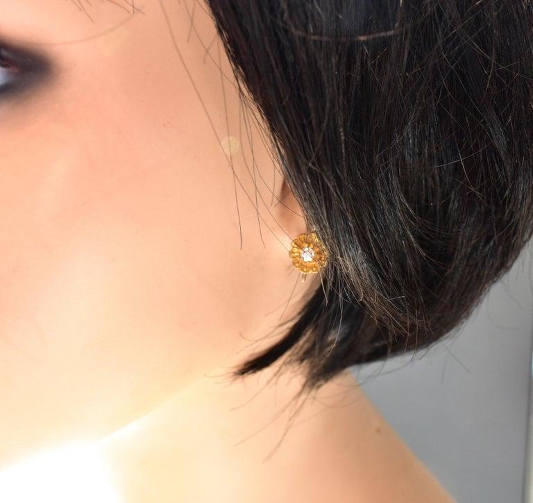 Victorian Diamond Earrings, circa 1895 For Sale 1