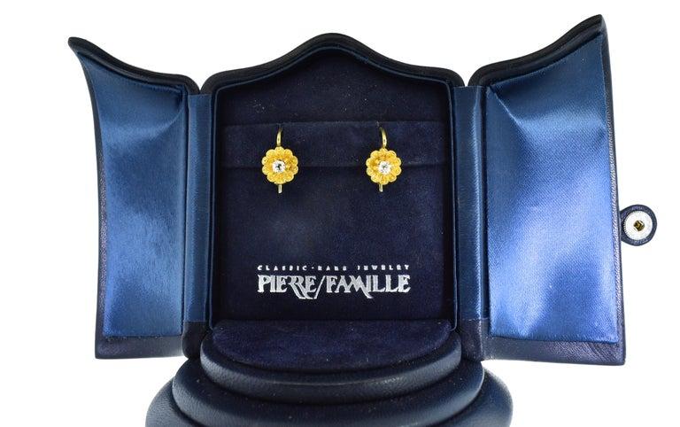 Victorian Diamond Earrings, circa 1895 For Sale 3