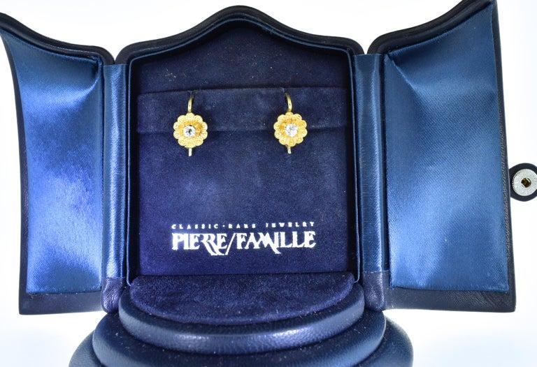 Victorian Diamond Earrings, circa 1895 For Sale 4