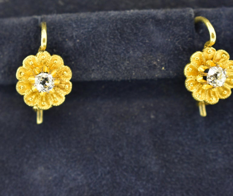 Victorian Diamond Earrings, circa 1895 For Sale 5