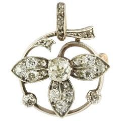 Victorian Diamond Floral Brooch/Pendant