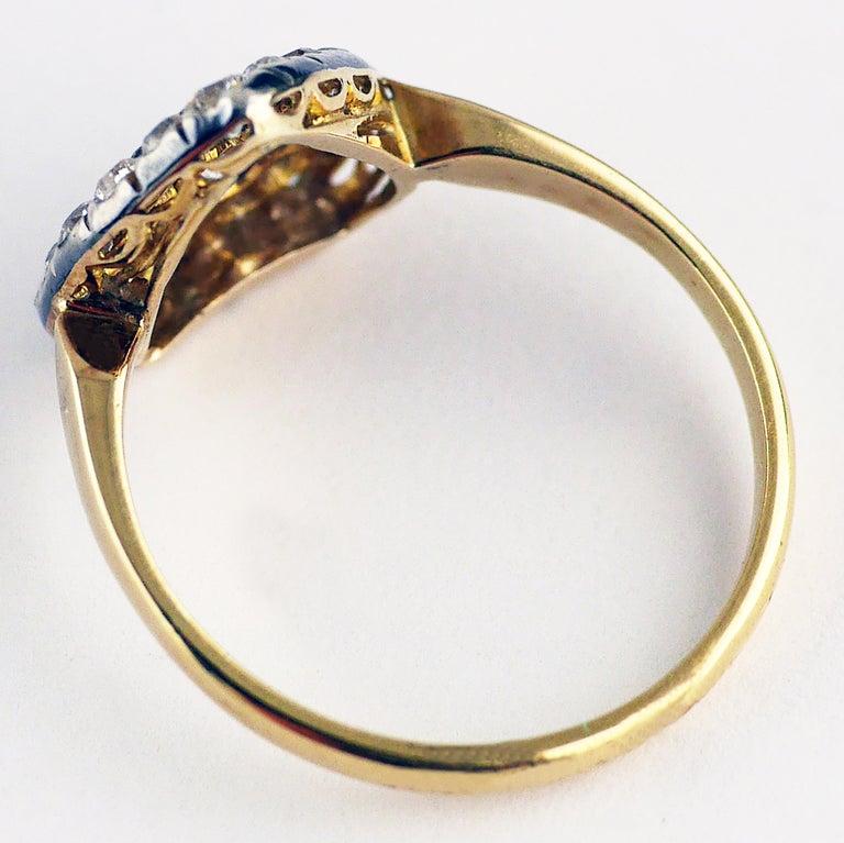 Victorian Diamond Heart Ring, circa 1870 For Sale 5