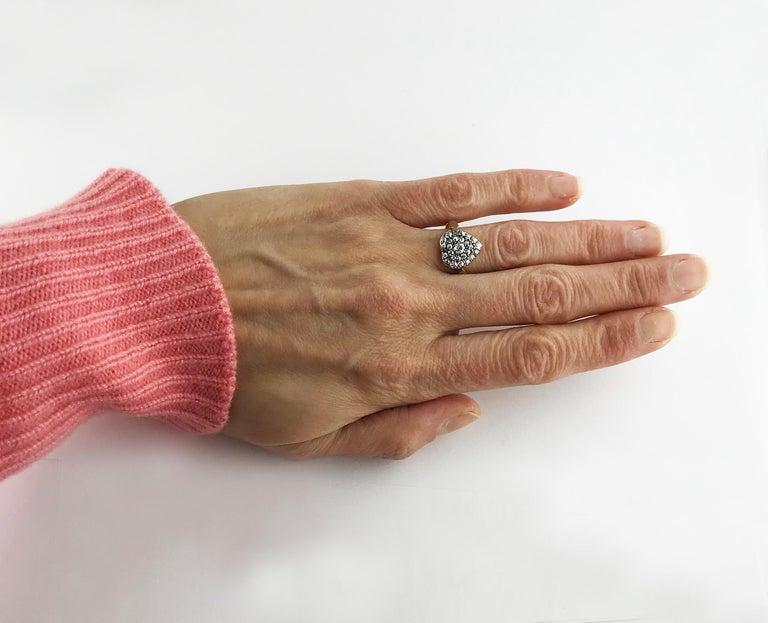 Victorian Diamond Heart Ring, circa 1870 For Sale 1