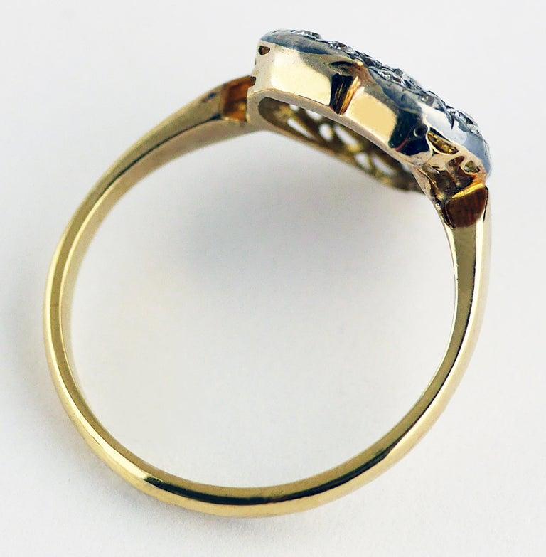 Victorian Diamond Heart Ring, circa 1870 For Sale 4