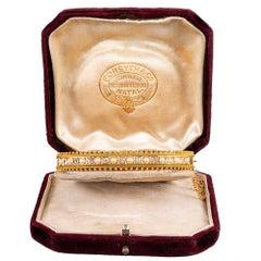 Victorian Diamond and Pearl Bangle