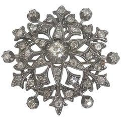 Victorian Diamond Pendant Brooch