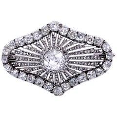 Victorian Diamond Rays Brooch, circa 1890s