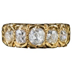 Victorian Diamond Ring 18 Carat Gold 1 Carat of Old Cut Diamond Dated 1875