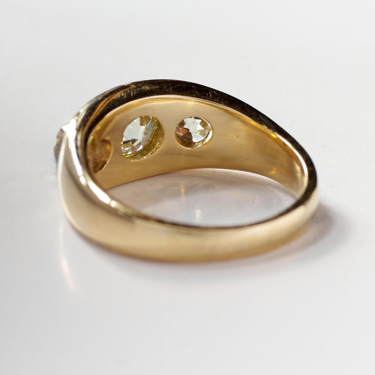 Men's Diamond Ring Victorian Three Carats For Sale 6