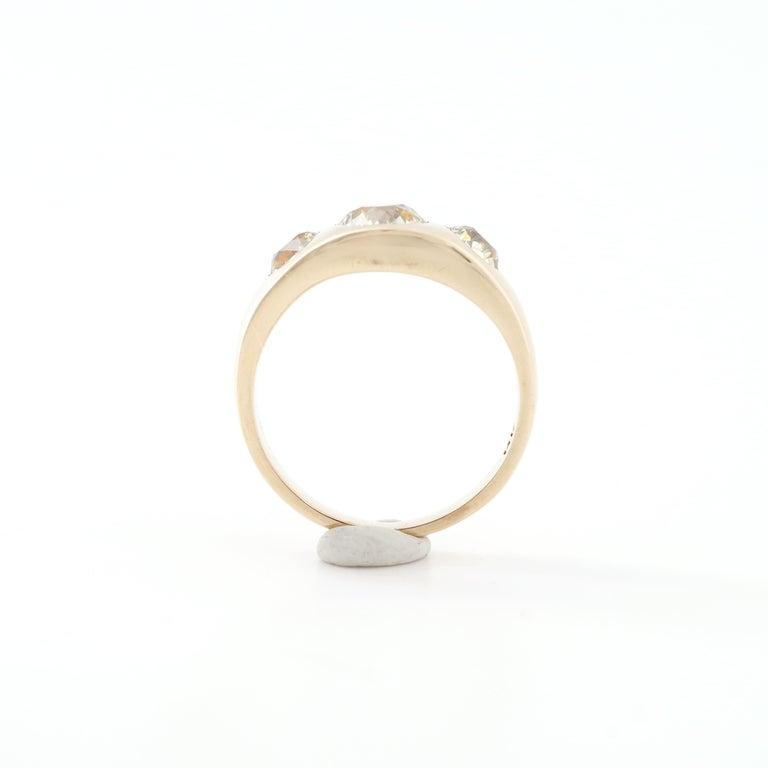 Men's Diamond Ring Victorian Three Carats For Sale 2