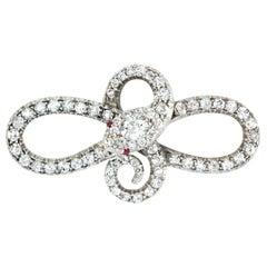 Victorian Diamond Serpent Brooch