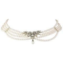 Victorian Diamond Set Necklace Centre Piece