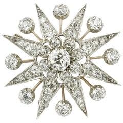 Victorian Diamond-Set Star Brooch