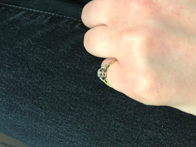Victorian Diamond Solitaire Engagement Ring, circa 1900s For Sale 1