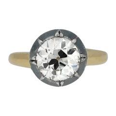 Victorian Diamond Solitaire Ring, English, circa 1860