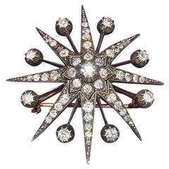Victorian Diamond Star Brooch