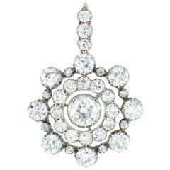 Victorian Diamond Target Brooch-Pendant