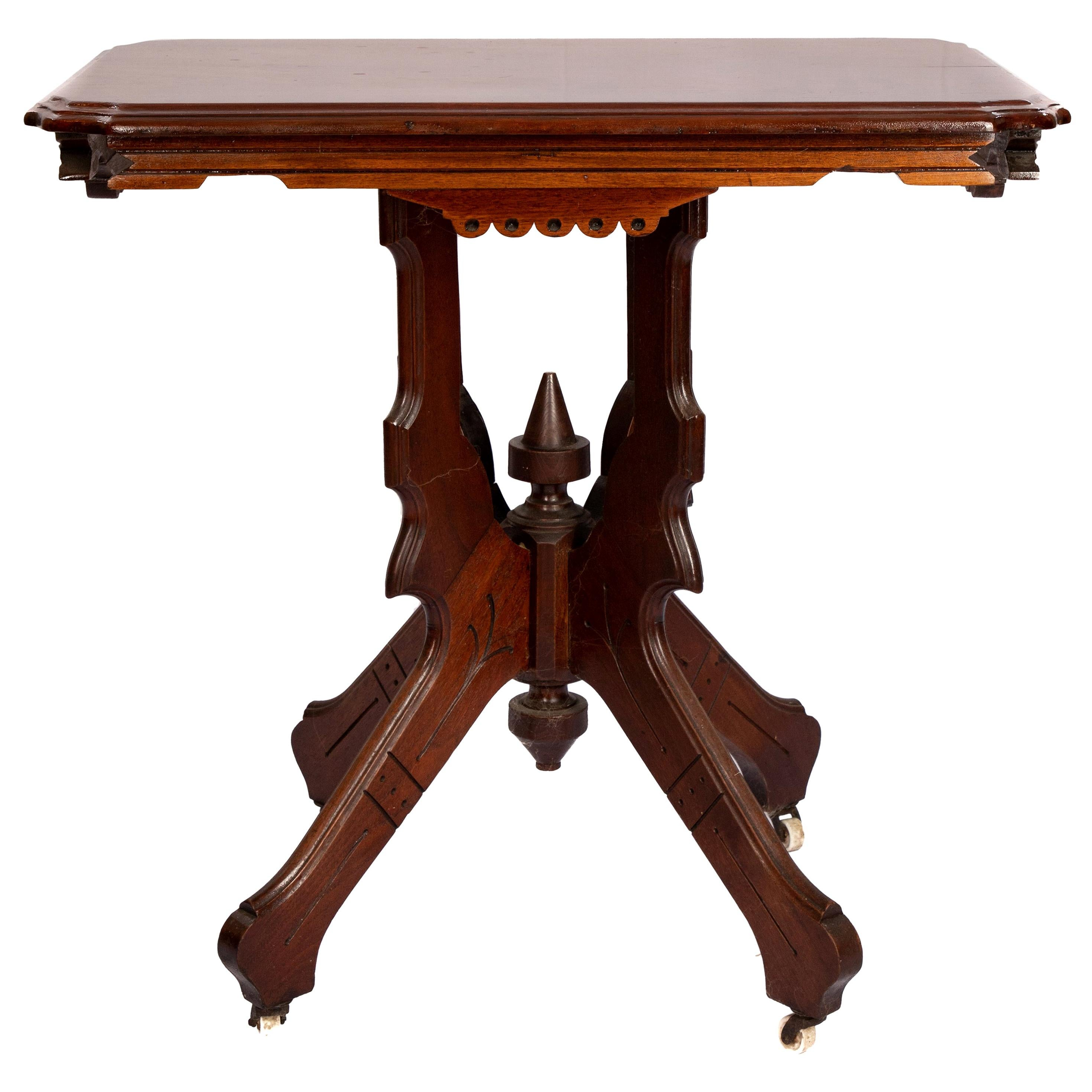 Victorian Eastlake Parlor Table