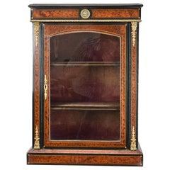 Victorian Ebonised Amboyna Pier, Display Cabinet