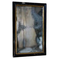 Victorian Ebonised Mercury Plated Rectangular Wall Mirror c.1875-85
