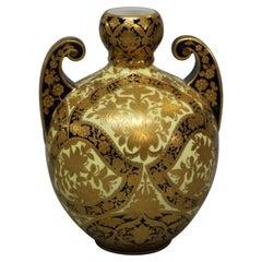 Victorian Egyptian Revival Royal Worcester Porcelain gilt Enamel Decorated Handl