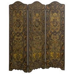 Victorian Embossed Leather Screen