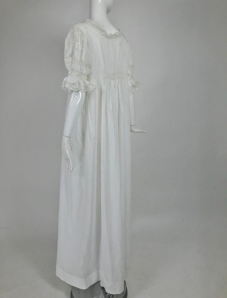 Women's Victorian Embroidered Batiste Lace Gown Hattie 1900s For Sale