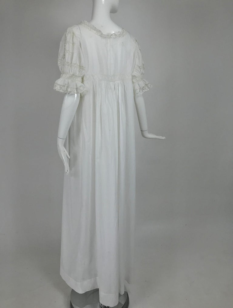 Victorian Embroidered Batiste Lace Gown Hattie 1900s For Sale 1