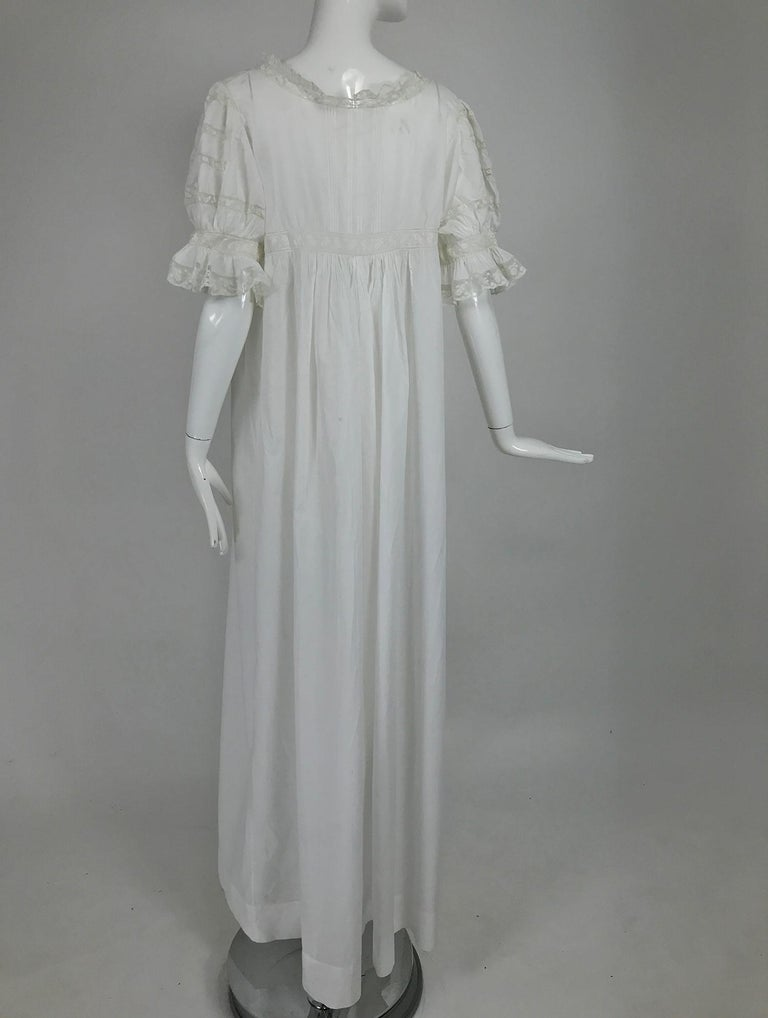Victorian Embroidered Batiste Lace Gown Hattie 1900s For Sale 2