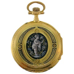 Victorian Enamel Gold Pocket Watch