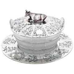 Victorian English Silver Butter Dish