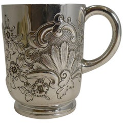 Victorian English Sterling Silver Christening / Child's Mug, 1896