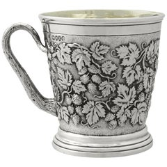 Victorian English Sterling Silver Christening Muga