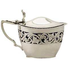 Victorian English Sterling Silver Mustard Pot