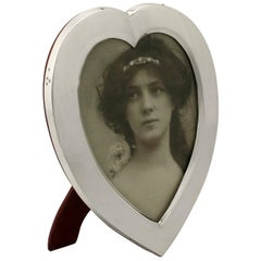 Victorian English Sterling Silver Photograph Frame by William Comyns & Sons