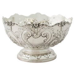 Victorian English Sterling Silver Presentation Bowl by Charles Stuart Harris