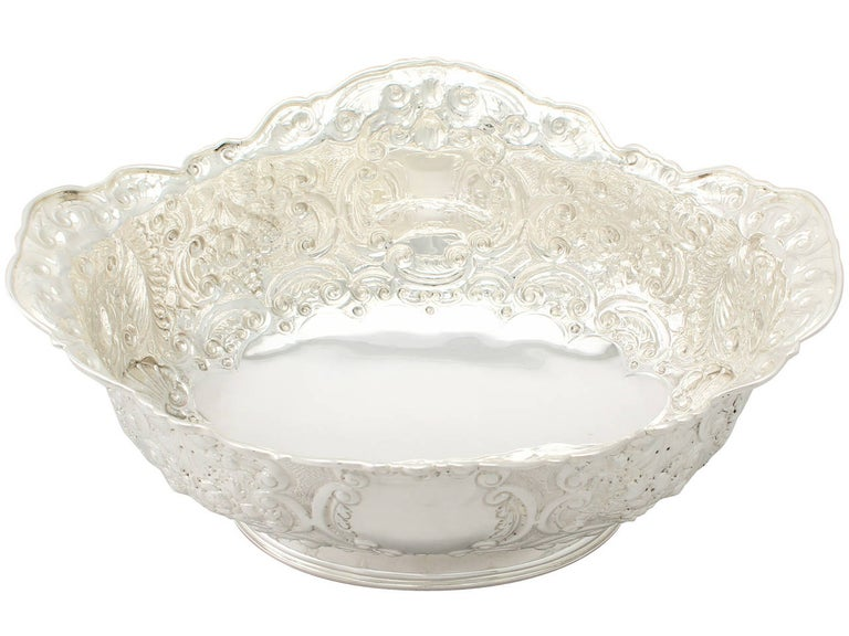 A fine antique Victorian sterling silver presentation bowl; part of our presentation silverware collection
