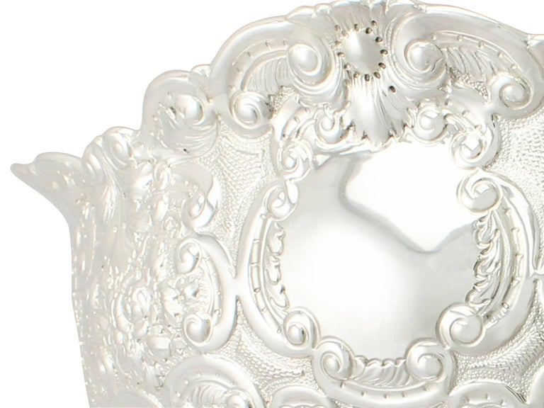 Victorian English Sterling Silver Presentation Bowl For Sale 1
