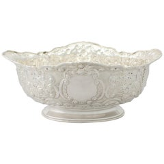 Victorian English Sterling Silver Presentation Bowl